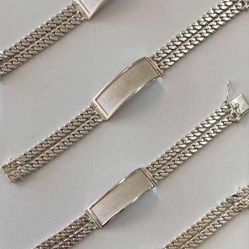 man id bracelet silver